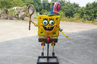 Sun Proof Custom Fiberglass Products / Yellow Spongebob Squarepants For Playground